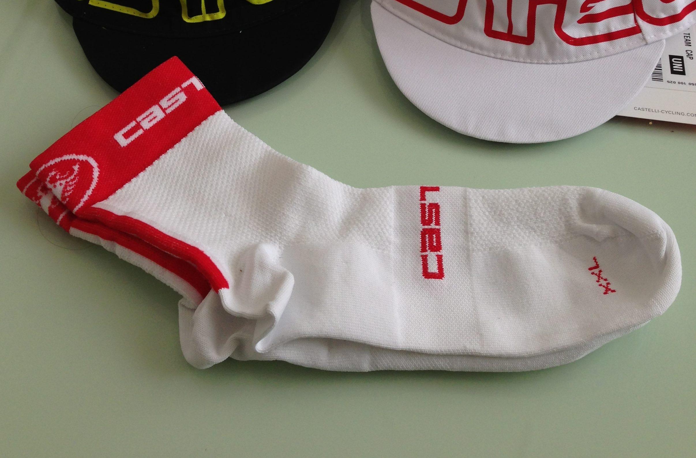 Calcetines Castelli mod. Free & Rosso Corsa